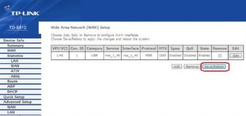 TP-Link TD 8810 режим подключения «DHCP Router»