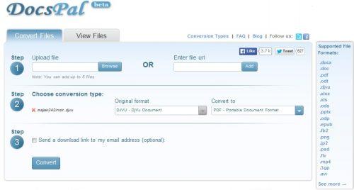 сервис переобразования файлов