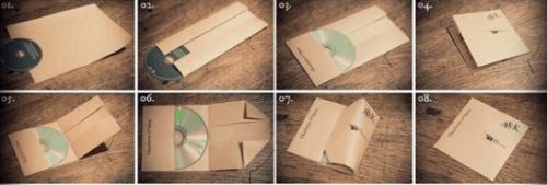 как сделать из бумаги конверт для диска