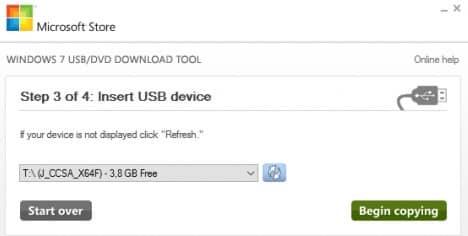 Insert USB devise