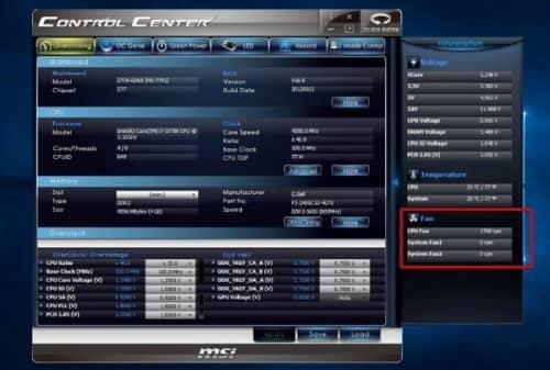 Контроль MSI Control Center